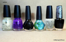 OPI Nichóle China Glaze Lot of 6 Preowned Laquer Crackle15ml  .5 fl oz