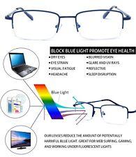 8e92ccb996 Blue Light Blocking Half Frame Computer Reading Glasses Anti UV Eye Strain