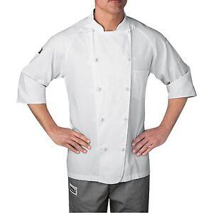 Chefwear 4025-40 Five-Star Lightweight 3/4 Sleeve Chef Jacket, White XS-5XL