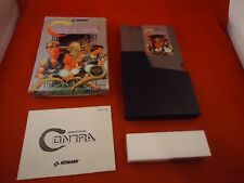 Contra (Nintendo NES, 1988) COMPLETE w/ Box manual game WORKS!