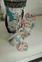 Delish Love My Wine Series Happy Birthday Hand Painted Wine Glass W/Box