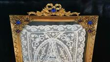 Large Antique Jeweled Vanity Tray w/ lace Insert