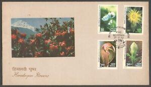 AOP India FDC 1982 Himalayan Flowers