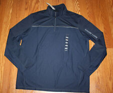 NWT Mens CALVIN KLEIN Navy Blue 1/4 Zip Lightweight Performance Pullover L