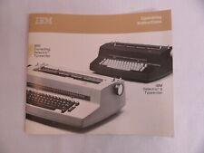 Ibm Correcting Selectricselectric Ii Typewriter Operating Instructions Manual