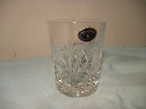 BOHEMIA CRYSTAL VINTAGE NEW WHISKY GLASSES SET OF 6 - TUMBLERS GLASS WHISKEY