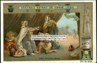 Isaac Blessing Jacob Holy Bible Story c1905 Trade Ad Card