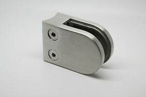 Stainless steel Balustrade Glass Clamp 40x50 grade 316 for 42.4mm post