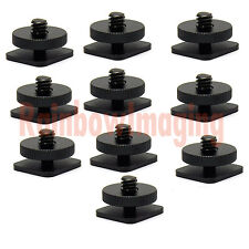 "1/4""- 20 Tripod Screw to Flash Shoe Mount Adapter for Monitor Bracket x 10pcs"