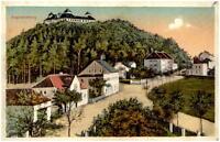 AUGUSTUSBURG ~1920/25 color Postkarte mit Blick auf Schloss Garten-Wirtschaft