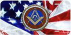 Masonic Mason USA Flag Aluminum Novelty Car License Plate