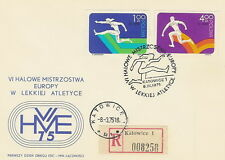 Poland postmark - sport athletic meeting europe championship