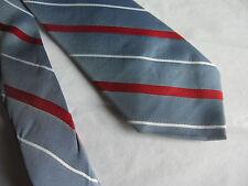 Mens Blue Red White Striped Tie Necktie PRINCIPE (5671)