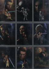 STAR WARS ATTACK OF THE CLONES SET OF 10 FOIL CARDS
