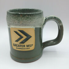 Deneen Pottery Greater MSP Established 2011 Coffee Mug 2019 Sage w/ Hunter White