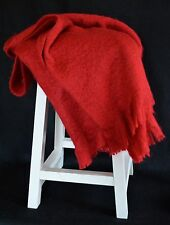 Cynthia Rowley Solid Colored Throw Blanket Afghan Soft Acrylic with Fringe NWOT