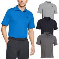 Under Armour Mens UA Performance Golf Stretch Durable Polo Shirt