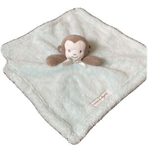 Blankets and Beyond Lovey BLANKET Brown Mint Green MONKEY Plush Stuffed Animal