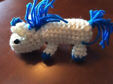 Unicorn Blue LGBTQ Amigurumi Crochet Handmade Stuffie Toy DECORATION ORNAMENT