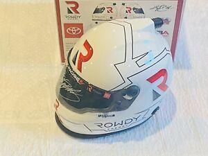 KYLE BUSCH ROWDY ENERGY HAND SIGNED 2020 NASCAR MINI HELMET!!!!!!!!!