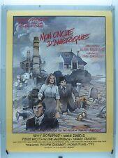 AFFICHE ORIGINALE- MON ONCLE D'AMÉRIQUE- ALAIN RESNAIS- GÉRARD DEPARDIEU - 1980-