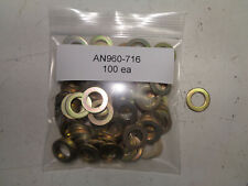 Aircraft Washers An960-716 / Nas1149F 0763P Flat Steel 100 Each New