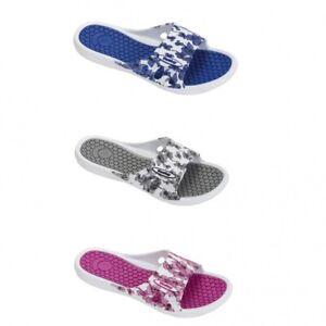 Badepantoletten Samela Komfort-Fußbett Klettverschluss Fashy