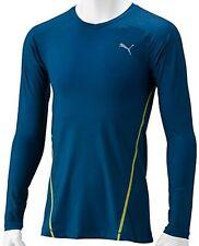 PUMA Herren T-Shirt Langarm Pullover Actv Pwr Arms Long Sleeve Tee, Blau, XL