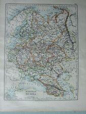 1899 VICTORIAN MAP ~ EUROPEAN RUSSIA FINLAND VLADIMIR CRIMEA SARATOV
