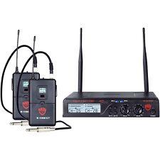 Nady U-2100 GT - Dual Channel UHF Wireless Guitar/Instrument System Band A/B LN