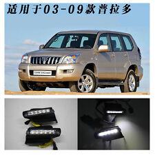 car LED DRL Daytime Running Light Day  Light For Toyota Land Cruiser Prado 03-09