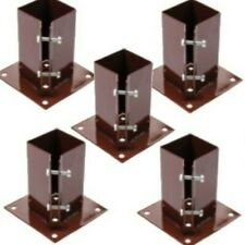 """5 x 100 MM  4"""" BOLT DOWN BOLT GRIP FENCE POST SUPPORT Like Metpost Timber Holder"""