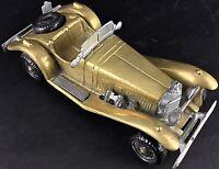 Ancienne voiture Mercedes SSK1928 miniature Fal en Laiton massif et alliage