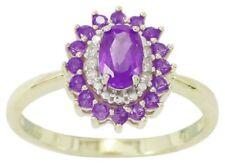 Gold Band Sapphire Fine Diamond Rings