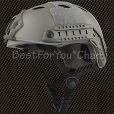 Tactical Airsoft Paint Ball Bicycle Light Weight Fast PJ Helmet FG Green