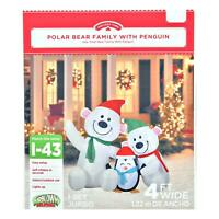Holiday Time 4ft Polar Bear Family by Gemmy Industries
