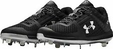 New Under Armour Yard Low ST Mens Size 11 Black/Gray Baseball Cleats