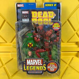 "Deadpool Marvel Legends Series VI 6"" Fig Doop Wall Mount Stand Comic ToyBiz 2004"