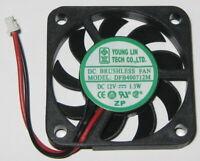 Ultra Thin 12V DC 40mm Laptop Fan - 7.3mm Thick - 2 Pin Mini Plug - 6500 RPM