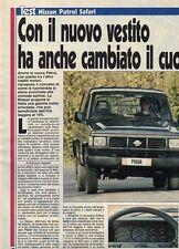 SP20 Clipping-Ritaglio 1989 Nissan Patrol Safari