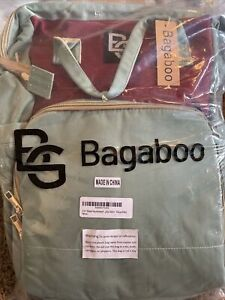 Bugaboo Diaper Bag Backpack with Changing Bed Water Resistant With Bassinet