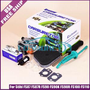 Carburetor for Stihl FS87 FS87R FS90 FS90K FS90R FS100 FS110 Trimmer Fuel Filter