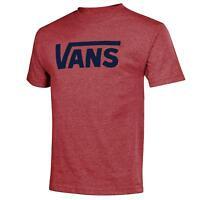 VANS (CLASSIC LOGO) SKATE RED HEATHER TEE T SHIRT SZ MENS XXL 2XL NWT NEW