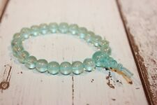 Armband NEU Holz Shamballa Asia mint grün  Perlen style  Armkette