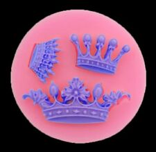 3 X CROWN SILICONE MOULD-TIARA/PRINCESS/FONDANT MOLD-CHOCOLATE-CAKE DECORATING-