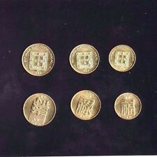 """MACAU, 1984, """"FORTUNE GREETING - 10C, 20C AND 50C"""" SET OF 3 COINS UN-CIRCULATED"""