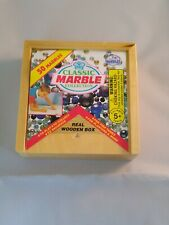 1998 IMPERIAL TOYS MARBLES SET / 50 MARBLES IN REAL WOODEN BOX