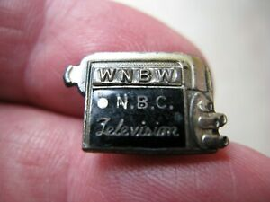 RARE Vintage NBC TV (WNBW) 1947 Tie Tac Lapel Pin Television Camera~ Lens Turret