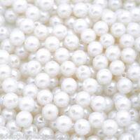300 Acryl Spacer Perlen Kugeln Beads Wachsperlen Weiß 8mm