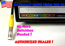 Colecovision Coleco TV Adapter Connector RF Coaxial - Type F No Switch Box!
